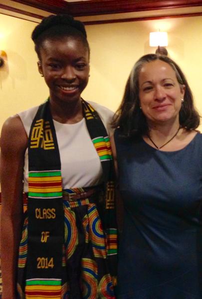 Izevbigie with Professor Lahra Smith