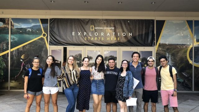 Students inat the National Geographic Society