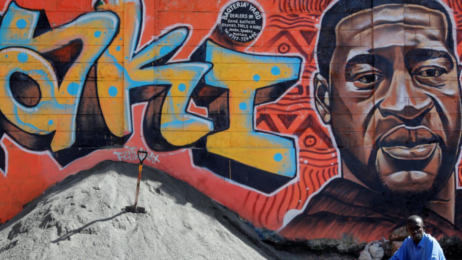 A picture of a mural in Kibera, Nairobi